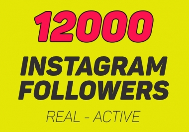Add 12000 Instagram Followers