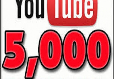 Give 5000 Permanent YouTube Views Life time guarantee