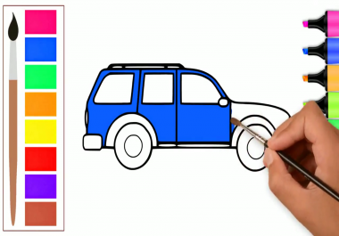 make Coloring Pages Drawing Video For Youtube Kids