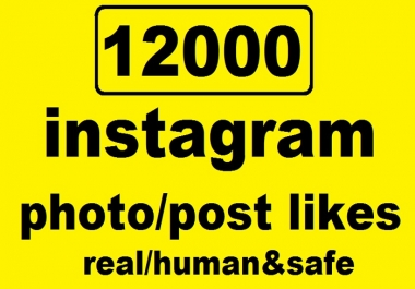 give Instant 12000 Instagram POST/PHOTO Likes Permanently