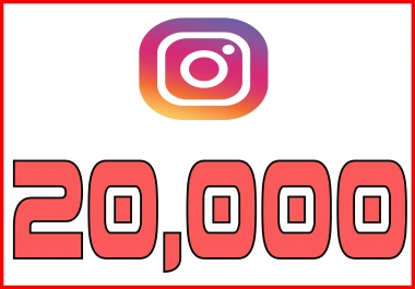provide 20,000 Non Drop Instagram Followers Real and Active