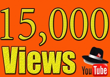 provide 15,000+ youtube views
