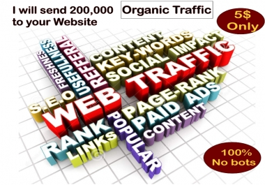 Send 200,000 Organic Traffic To Your Website