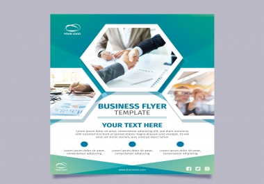 design 2 professional flyers, banners, posters or social media design for you in very low cost