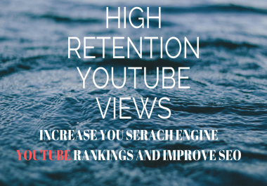 GIVE 2000 HQ RETENTION YOUTUBE TRAFFIC FOR VIDEO BOOST AND SEO
