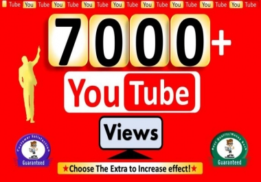 Add 7000+ YouTube Views Non Drop & Good For Ranking