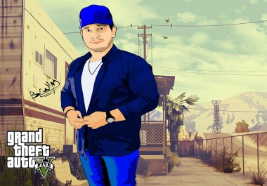turn photos and portraits to GTA and cartoon style