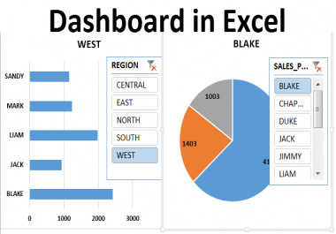 Create Excel Dashboard and reports