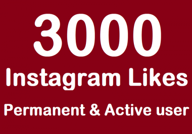 send 3000 High Quality Instagram Likes