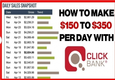 Teach You To Make 1000 USD Sales Using Clickbank