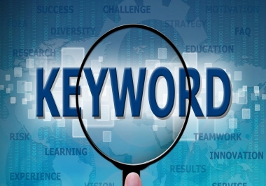 do indeph SEO keyword research for your niche