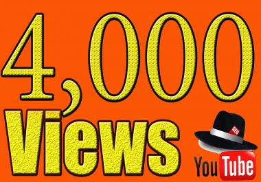 provide High Quality 4,000+ YouTube views real and Guarantee