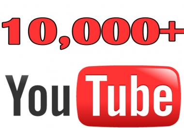 provide 10,000 YouTube video View