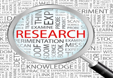 do an extensive research paper on any field for you.