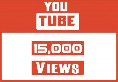 Add High Quality Non Drop 15,000+YOUTUBE views