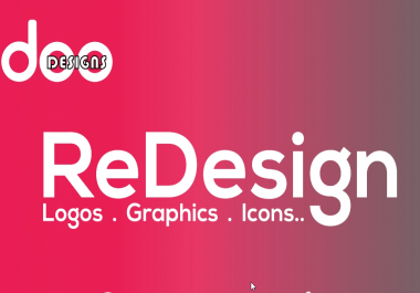 Design, Redesign, Edit, Vectorize Any Logo Or Graphic