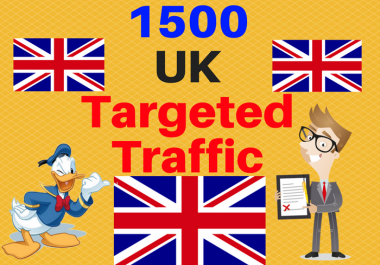 give 1500 UK TARGETED traffic to your web or blog site
