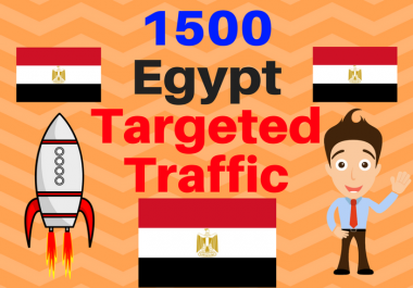give 1500 Egypt TARGETED traffic to your web or blog site