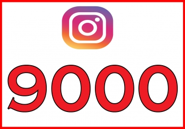 give you 9000+ Non Drop Guaranteed Instagram Followers