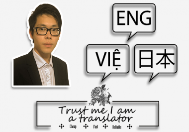translate English, Japanese and Vietnamese documents