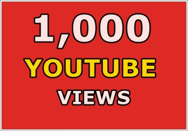 Give You High Quality 1,000+ YOU TUBE views