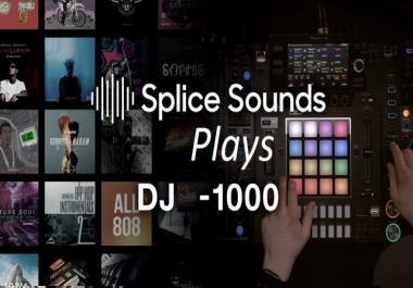 Give you 1000 Real USA Splice Plays Promotion Your Remix