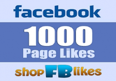 Give You 1000 Facebook Pages 100% Non Drop Like Guarantee