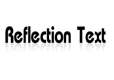 Teach You Make Text Reflection by Photoshop