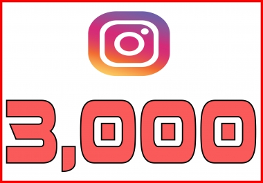 give you 3000+ Non Drop Guaranteed Instagram Followers