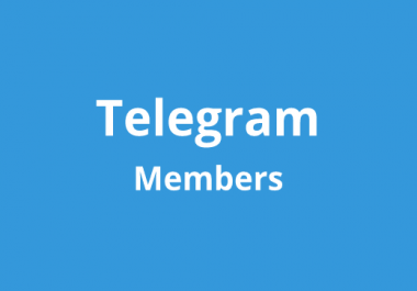 Add 1000 Real High Quality Telegram Channel Members