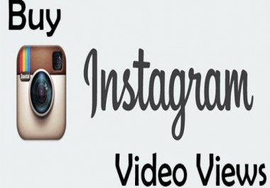 Fast 100,000+ Instagram video views HIgh Quality & non Drop