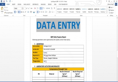 do Data Entry, Data Collection, Web research and Copy paste work