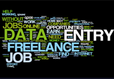 do Data Entry, Data Mining, Web research and Copy typing