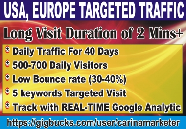 Drive Real USA Organic Web Traffic With 2 Min Long Visit