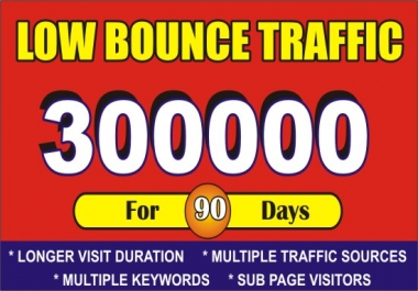 send low bounce rate traffic to your website, affiliate, mlm for 90 days