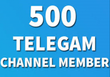Add 500 Real High Quality Telegram Channel Members