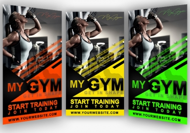 design gym and fitness flyer, poster and banner