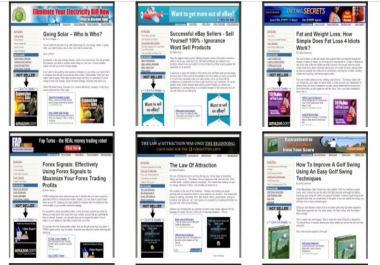 Provide 20 Ready Adsense, Amazon and Clickbank affiliate websites