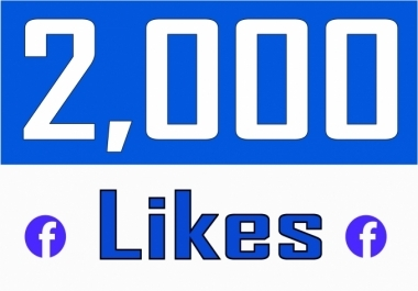 provide 2000 facebook page likes