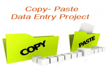 do data entry and copy paste work