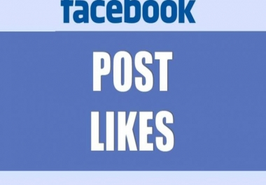 give you 1k+ Facebook post Likes