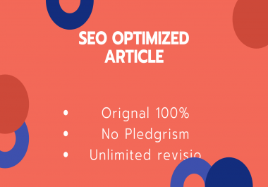 Write SEO OPTIMIZED Article of 1000 words