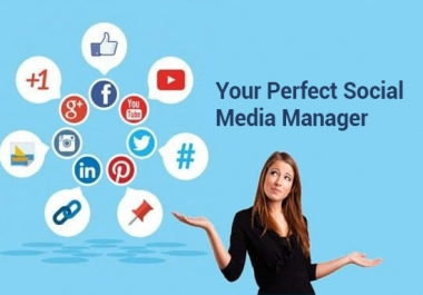 Manage Your one Social Media Account For 7 Days + free Logo Design.