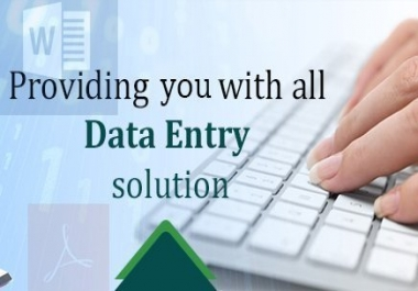 do any type of data entry and file conversion