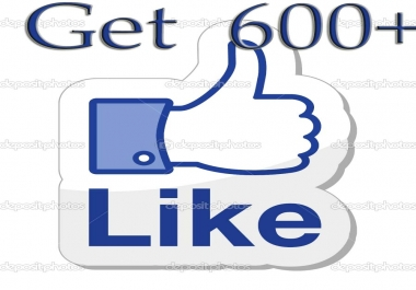 Give you 600 Facebook Likes Real,& Fast Service try it now