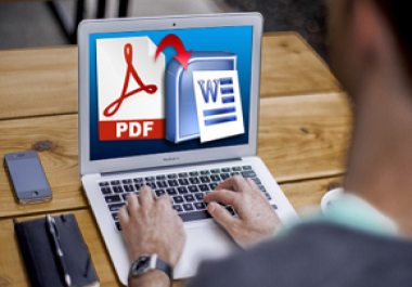 do data entry and file convert to word.