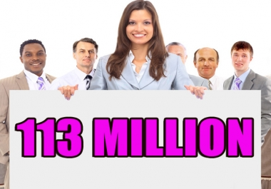 Promote to (113 MILLIONS) Real People on Facebook For your Business/Website/Product or A
