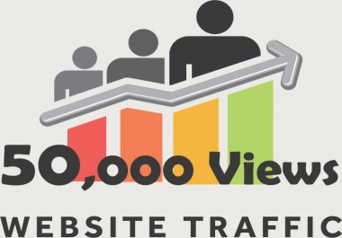 Send Fast 50.000 real Worldwide website traffic visitors from all Countries