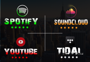 do organic spotify, Youtube, Soundcloud, Instagram, Facebook promotion to increase monthly Followers and Listeners.