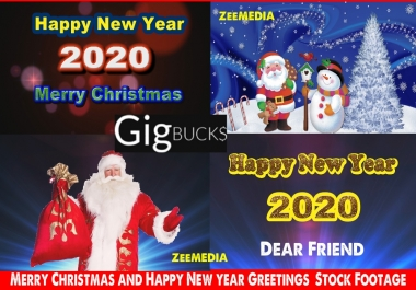 create merry christmas, new year 2020,holidays video